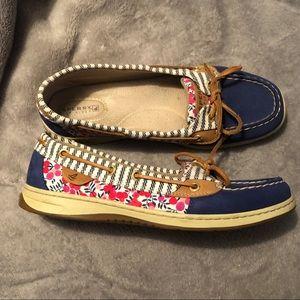 Sperry Angelfish Boat Shoe 9.5 Women's EUC Flats